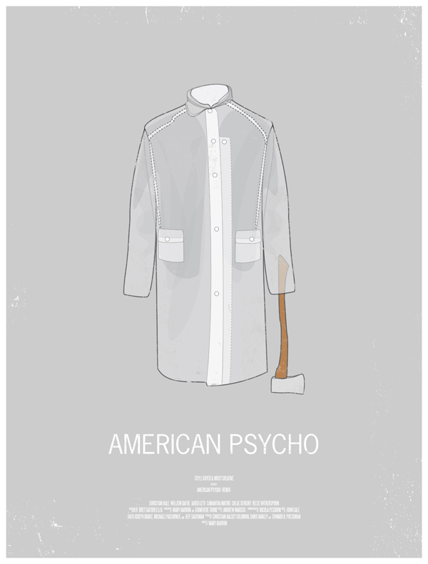 american psycho movie poster dress the part 10 Movie Posters Inspired by Mens Style