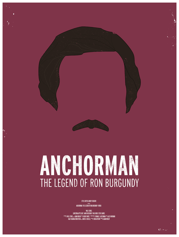 anchorman movie poster dress the part 10 Movie Posters Inspired by Mens Style