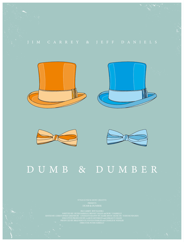 dumb and dumber movie poster dress the part 10 Movie Posters Inspired by Mens Style