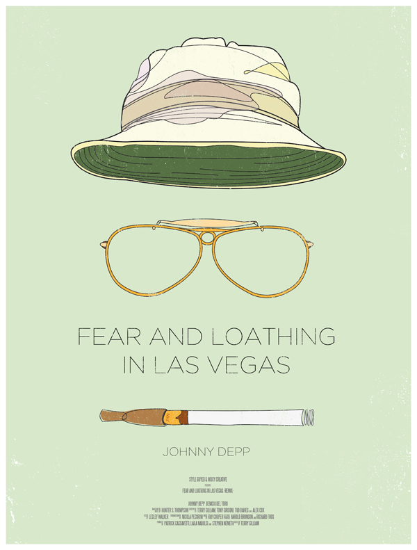 fear and loathing movie poster dress the part 10 Movie Posters Inspired by Mens Style
