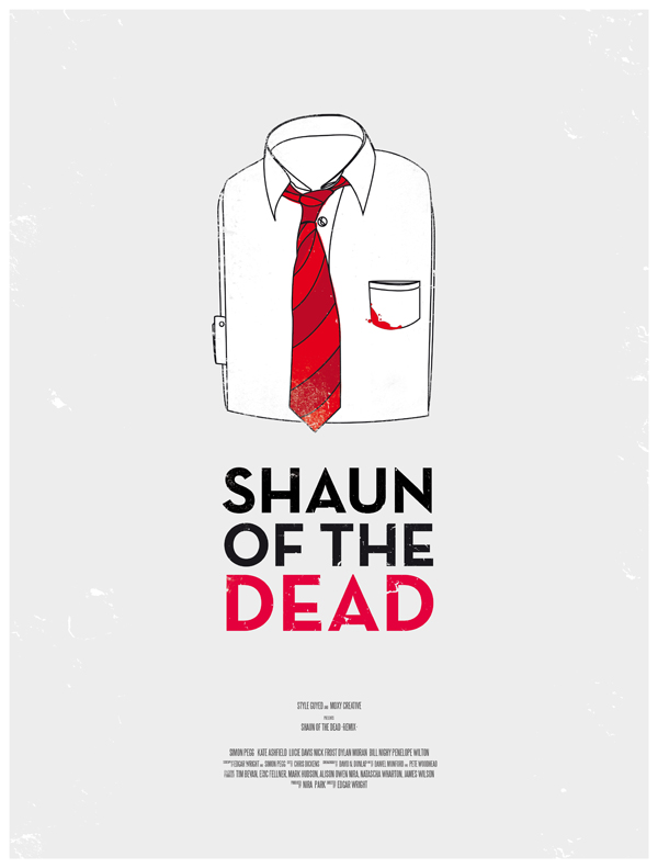 shaun of the dead movie poster dress the part 10 Movie Posters Inspired by Mens Style