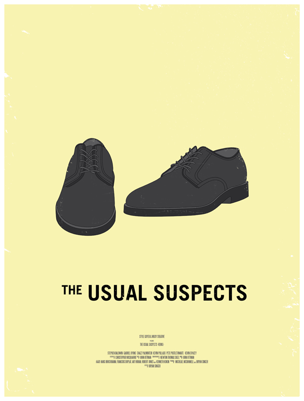 the usual suspects movie poster dress the part 10 Movie Posters Inspired by Mens Style