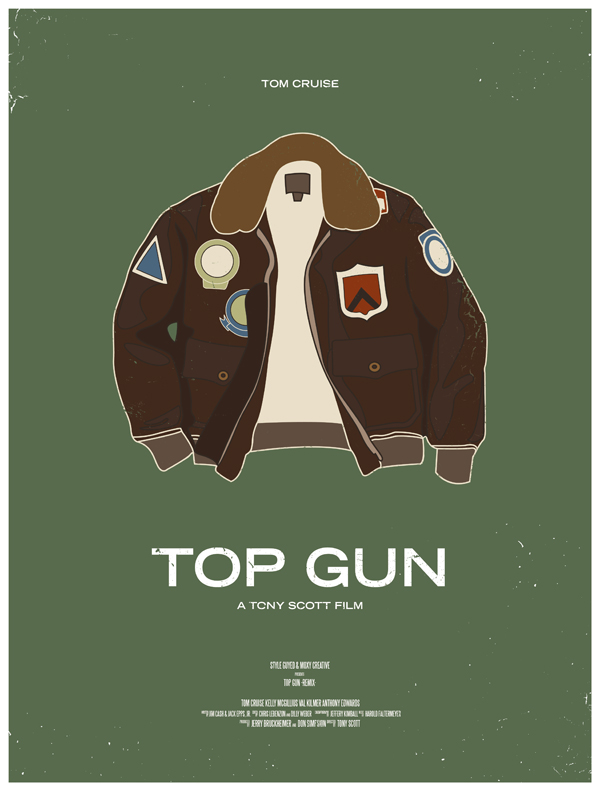 top gun  movie poster dress the part 10 Movie Posters Inspired by Mens Style