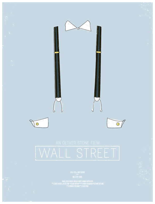 wall street movie poster dress the part 10 Movie Posters Inspired by Mens Style